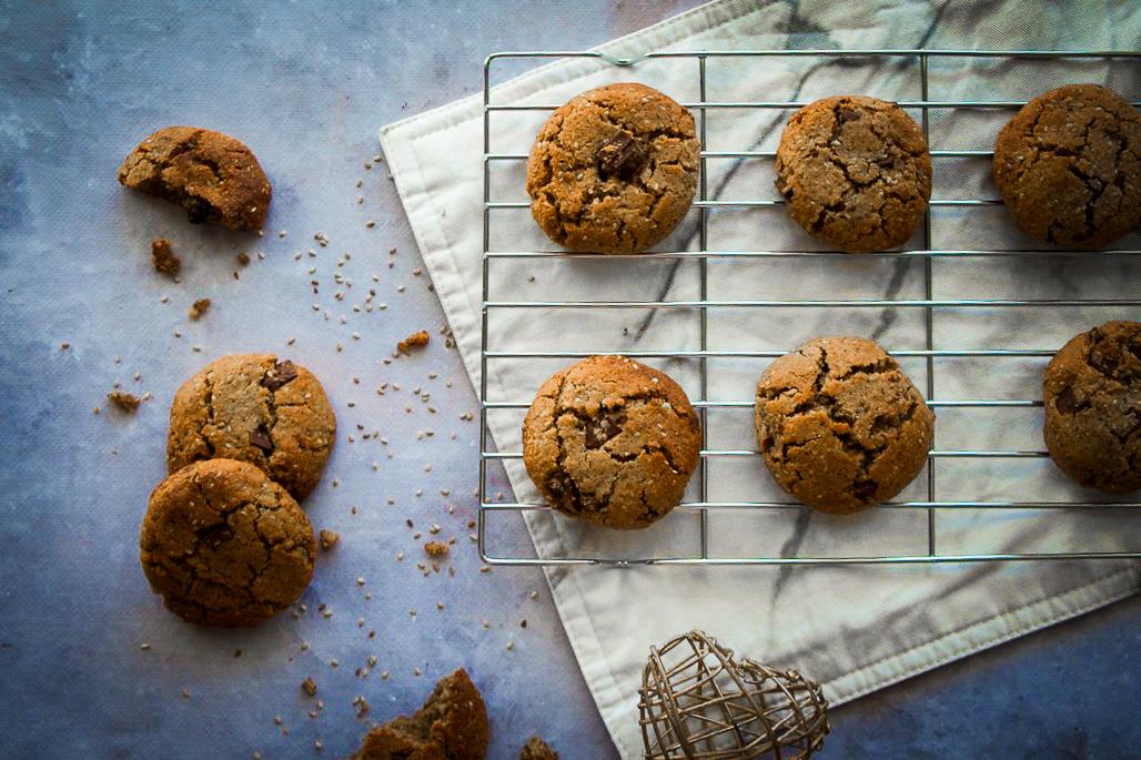 Cookies noisettes sésame sans gluten