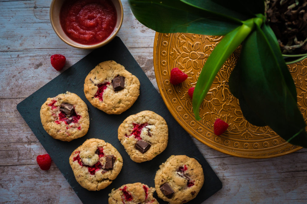 cookies aux framboises