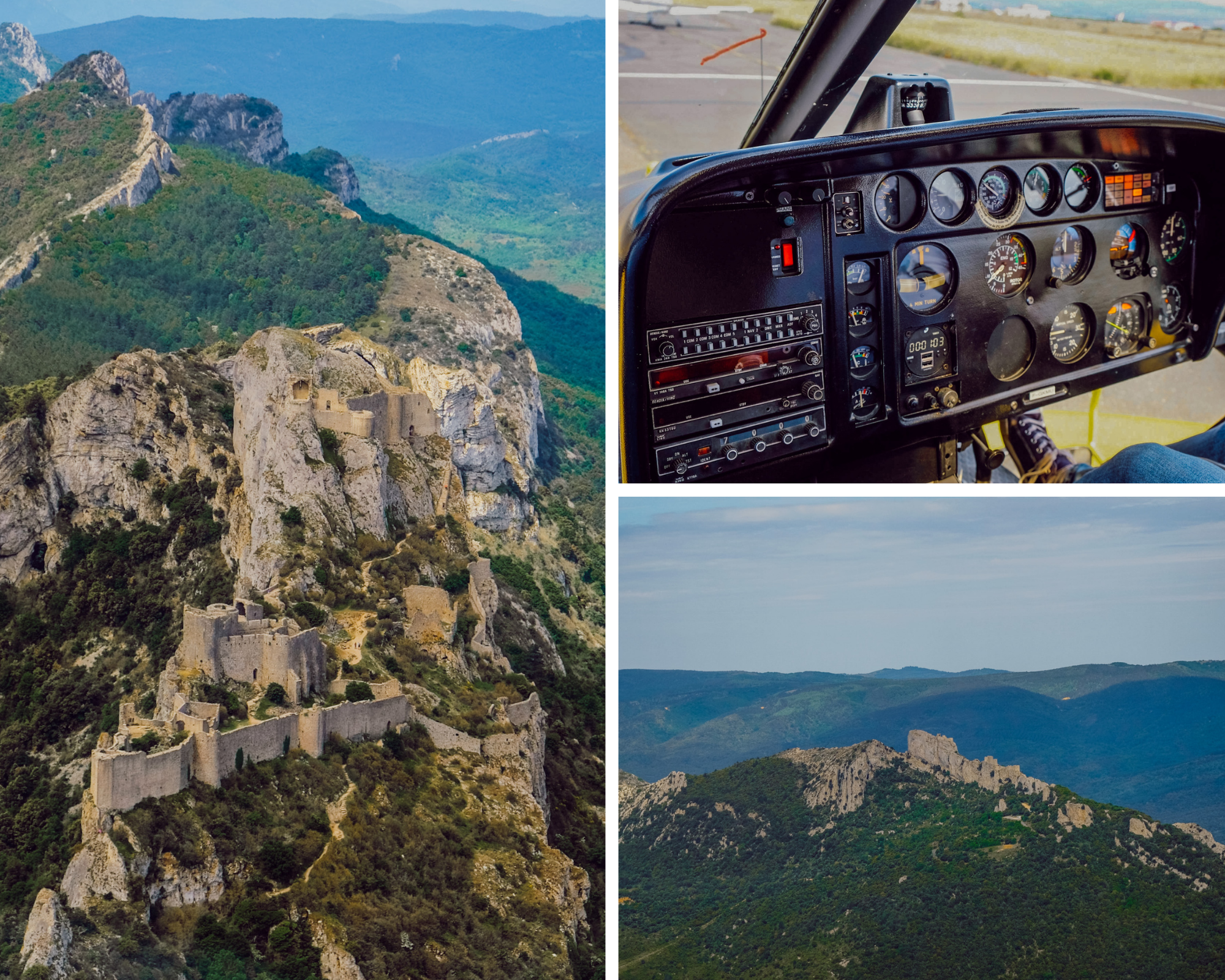 Chateaux Cathares en Hélicoptère